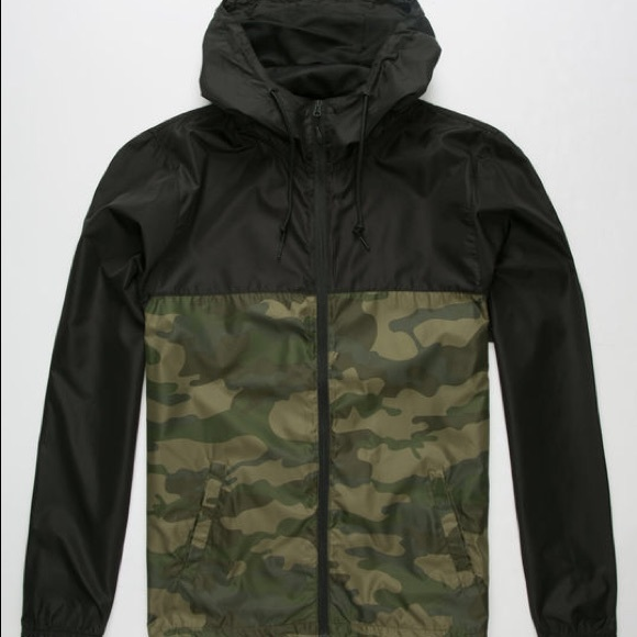 2019 real on sale online for sale Men's RVCA Lightweight Camo Rain Jacket ☔️